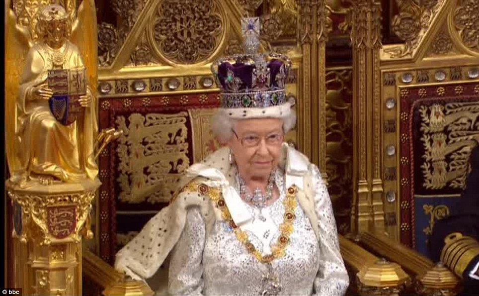 Historic: The Queen unveiled 20 bills which the Coalition hopes to pass into law this year
