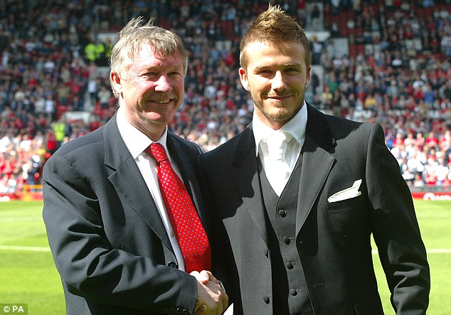 Successful partnership: Beckham left Old Trafford with a haul of domestic and European honours