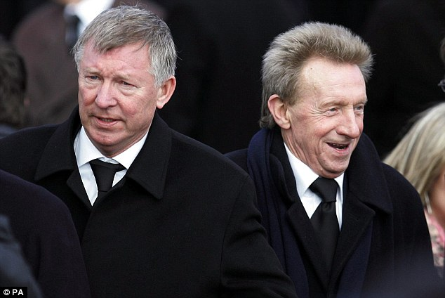 Tribute: Denis Law (right) with fellow Scot Ferguson at Celtic hero Jimmy Johnstone's funeral
