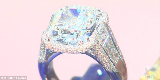 Bling: The ring is a GIA certified radiant cut diamond weighing 10.04 carats, E color grade and VS2 clarity grade worth $785,000