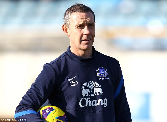 Great Scot: Everton coach David Weir could also join United, but may be promoted to the Goodison Park helm