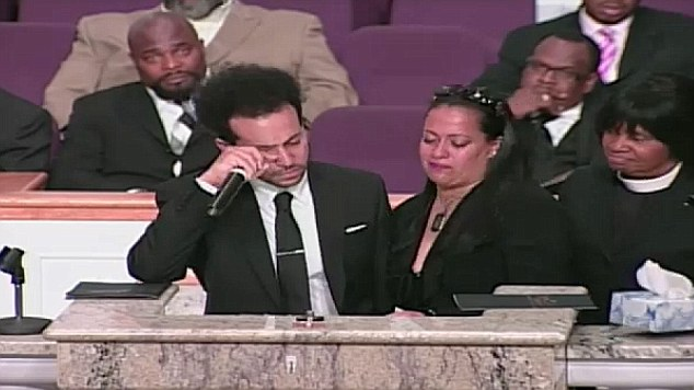 Chris Smith openly weeps at Chris Kelly's funeral as Kris Kross rapper is laid to rest during Atlanta ceremony