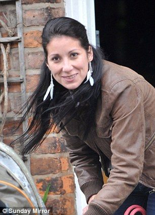 New love: Blanca Fouche, 31, from Chile who is dating actor Michael Le Vell, pictured at her home in Manchester