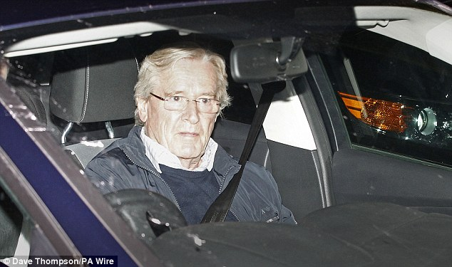 Bill Roache arriving home earlier this month, after it was announced that he has been arrested on suspicion of an historic allegation of a sexual assault