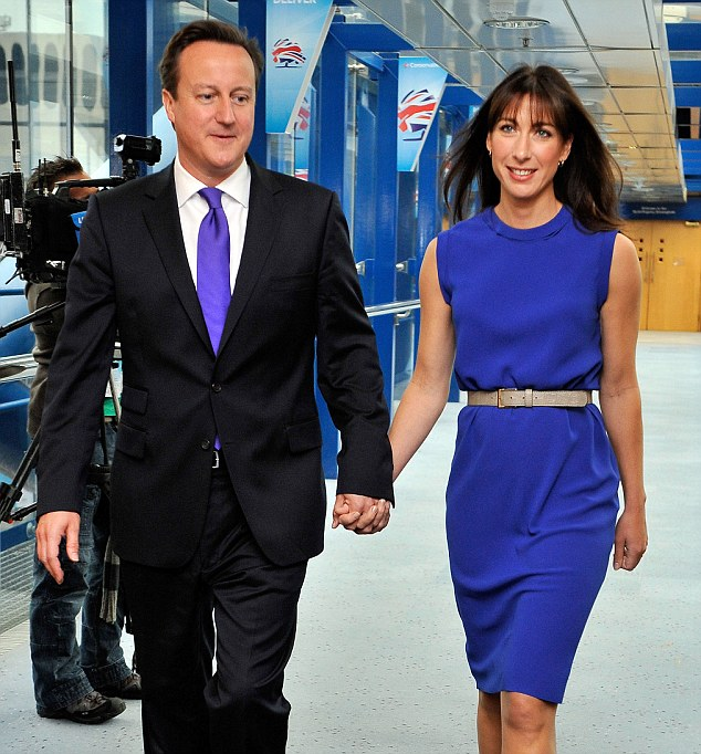 Blue bloods: Both David Cameron and his wife Samantha descend from aristocracy