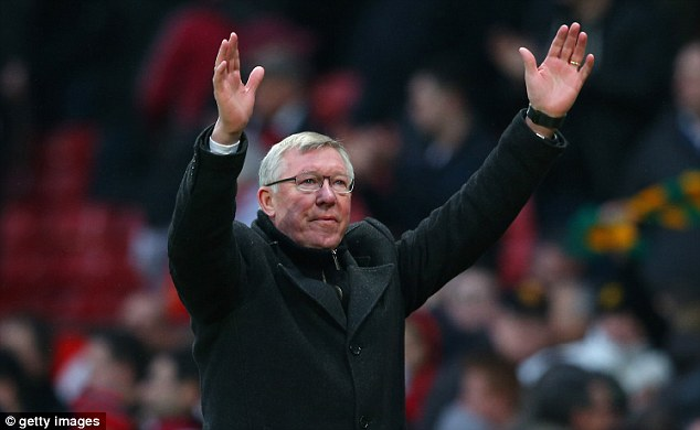 Fond farewell: Ferguson will manage his last game at Old Trafford today - and could leave Wayne Rooney on the bench