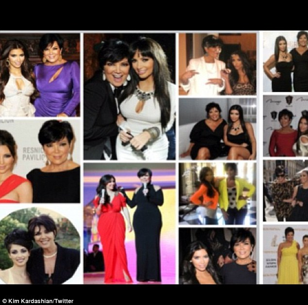 'Happy Mother's Day to my amazing mom!': Kim Kardashian created a collage of photos of herself with momager Kris