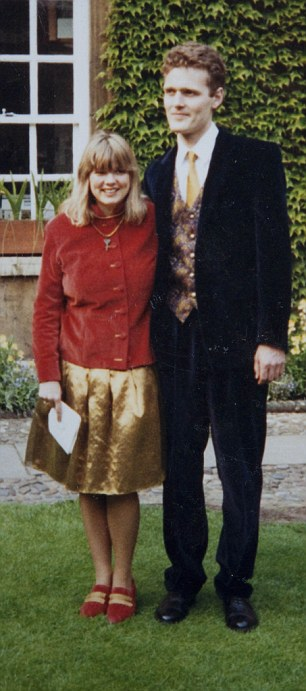 Olivia and Mark May on their wedding day in 1993