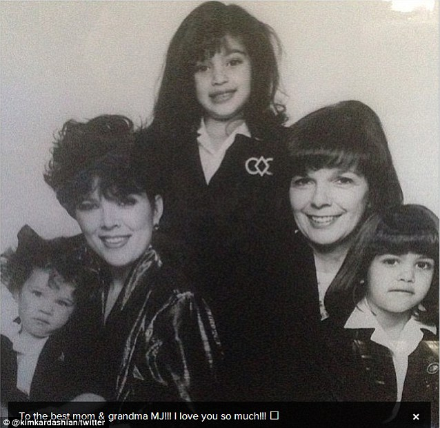 Best grandma award! Both Kris and Kim Kardashian posted an image featuring Kris' mother MJ