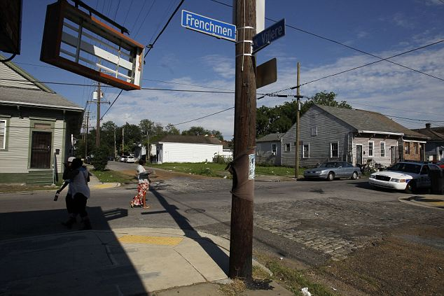 Seems quiet: This was the spot where the shooting took place in the suburbs of New Orleans