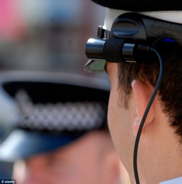 Metropolitan Police officers with cameras attached to their hats