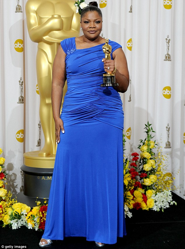 How she was: She now looks far from the roly poly star fans knew and loved when she picked up her Oscar in 2009