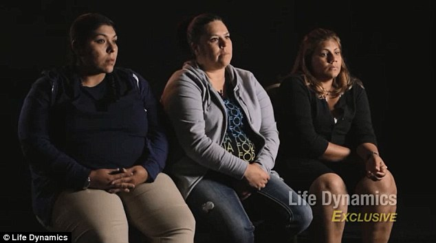 Speaking out: Krystal Rodriguez, left, Deborah Edge, center, and Gigi Aguliar, right, have all come forward to talk about their former boss Karpan