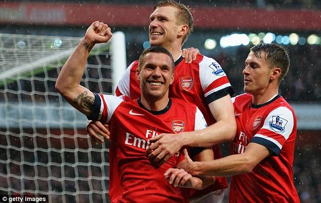 High earner: Lukas Podolski pockets over £100,000-a-week at Arsenal