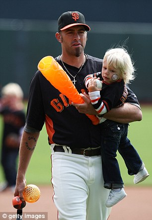 Other life: Affeldt, who has pitched with the Giants during their last two World Series wins over the last three years, publicly shows himself as a Christian and a family man