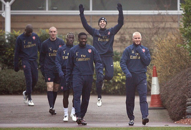 Wanted: Arsene Wenger admitted he tried to sign David Beckham after the player trained with Arsenal
