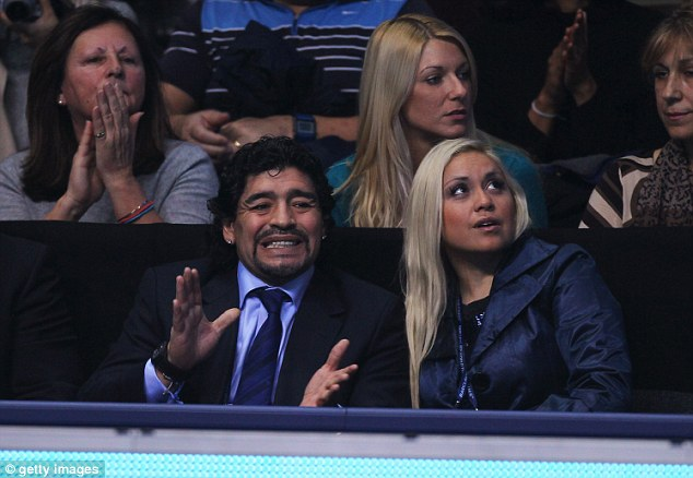 Ex: Maradona with his former girlfriend Veronica Ojeda, whom he has a child with