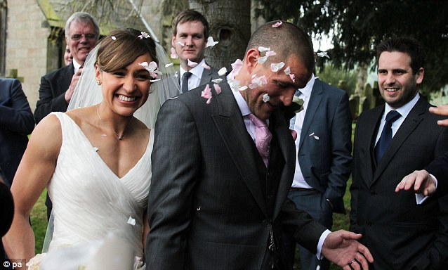 Congratulations! Jessica Ennis married her childhood sweetheart Andy Hill on Saturday afternoon