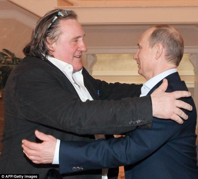 Leaving France: Actor Gerard Depardieu (left) has been granted Russian citizenship by President Putin (right) to avoid the tax rise
