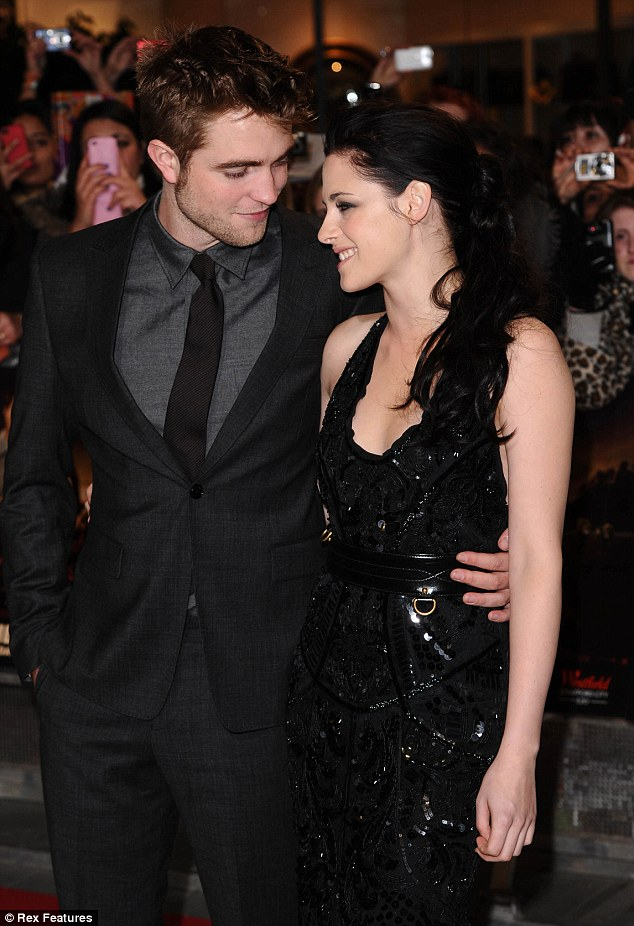 Better times: Robert Pattinson and Kristen Stewart have reportedly split after almost four years together