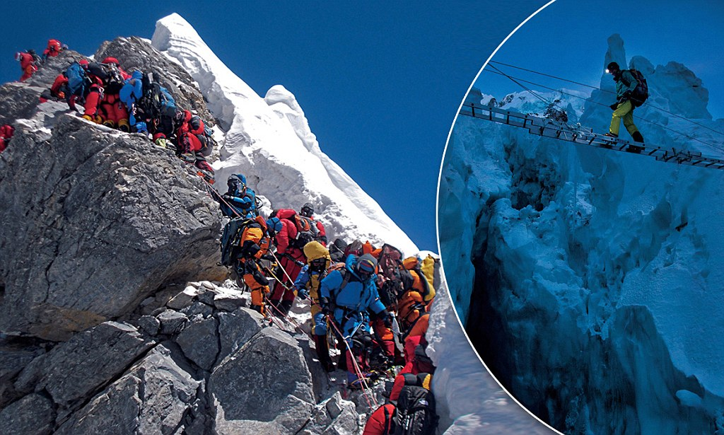 Queue Here For Everest Photographer Captures The Crowds