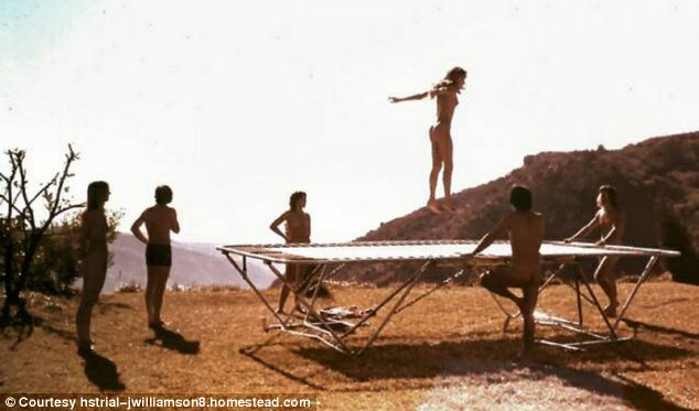 Naked party trampoline — 2