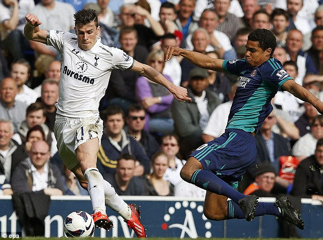 Flying away: The deal could see Bale leave White Hart Lane next summer if a club bids £50 million
