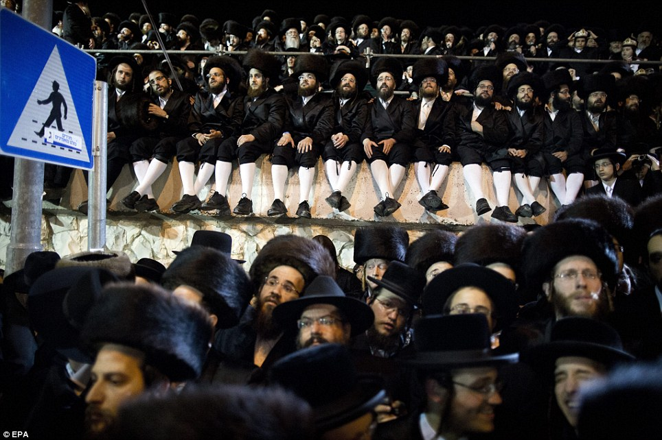 Matching outfits: Hasidic Jews wear clothes similar to that of their ancestors. They can be seen in traditional shtreimel hats for the wedding ceremony