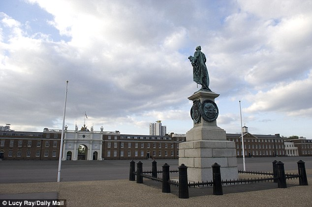 Near the scene: The Royal Artillery Barracks in Woolwich, south-east London, pictured after the attack