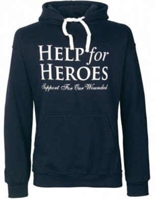 Hoodie: A Help for Heroes top like the one the murdered soldier was wearing
