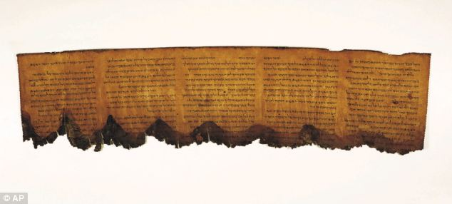 A section of the Dead Sea Scrolls: now smaller, blank fragments are set to be sold to collectors