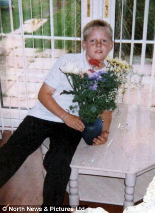 Struggle: Mr O'Connor is pictured before his accident aged 10. His mother told the court that he struggled to cope with the loss of his voice caused by the tracheostomy tube