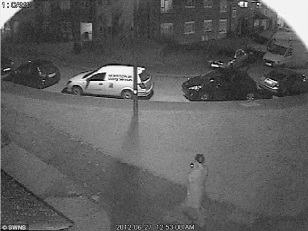 Chilling: A CCTV image shows Eystna Blunnie walking down the street on her way to meet Tony McLernon