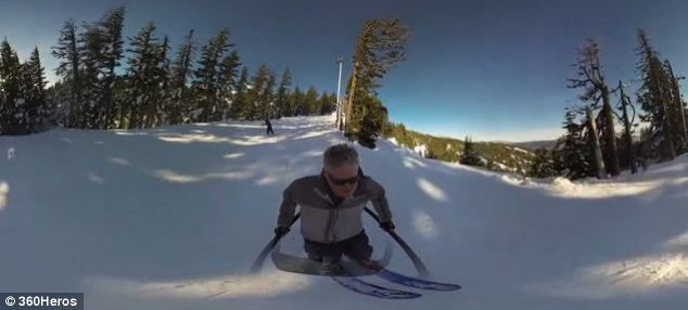 This shot was taken using a third-person 360Heros mount during a skiing trip in Oregon