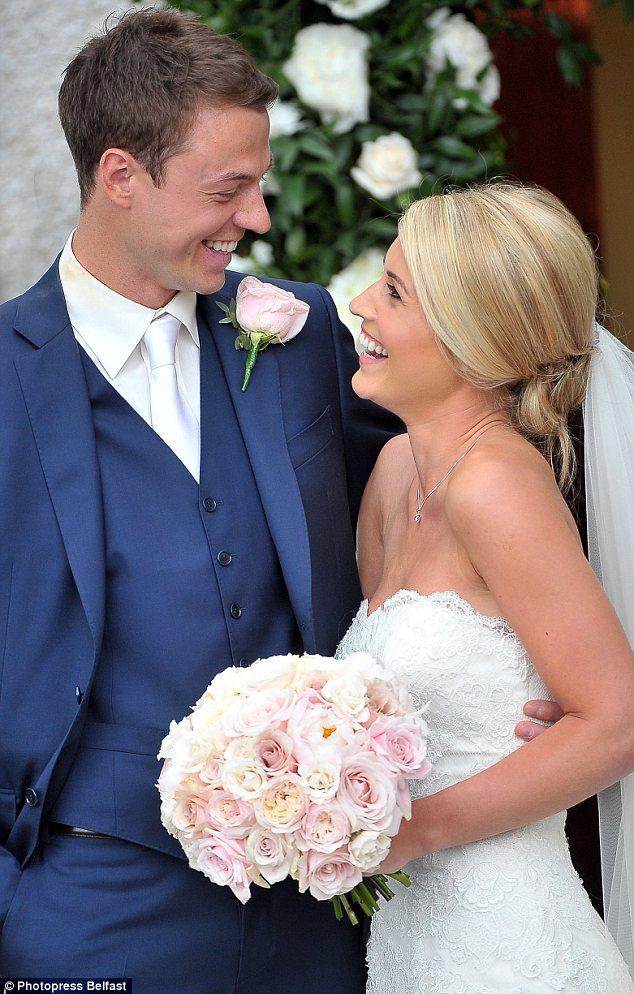Footballer Jonny Evans Weds MUTV Presenter Helen McConnell