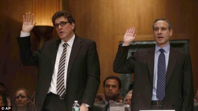 The IRS dream team: Steven Miller (L) and Douglas Shulman (R) testified on Capitol Hill on May 21 about the agency's years-long practice of targeting right-wing tax exemption applicants