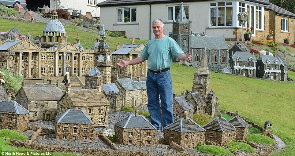 Creator: Retired builder Lowson Robinson has downsized and has focused his attention on miniature buildings in his own garden