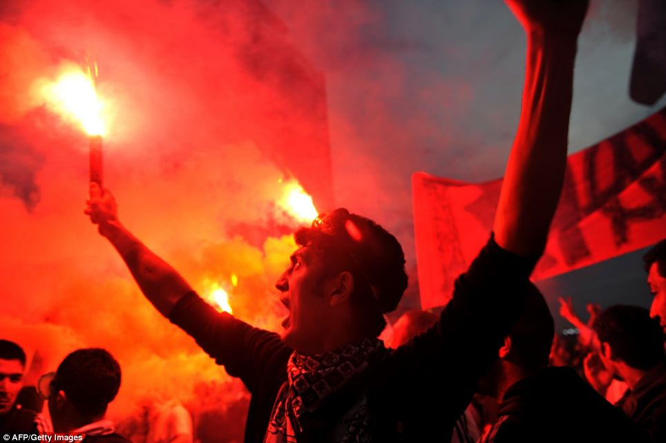 Fervent secularism: Turkish Prime Minister Tayyip Erdogan on Monday branded the protesters, who have fought street battles with since Friday, extremists 'living arm in arm with terrorism'