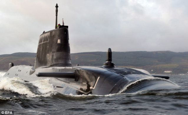 Experts: Electric Boat, the company who will help the Spanish rectify the problem, helped to build the Astute class attack submarine, pictured, for the British Navy in 2003