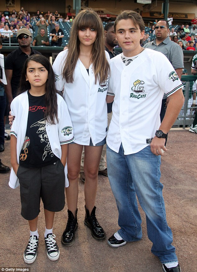 Probe: A judge has formally ordered an investigation into the welfare of Paris Jackson, seen here with her brothers Prince, right, and Blanket following her suicide attempt and hospitalisation this week