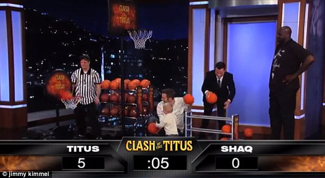 On a roll: Another ball sails through the hoop as Titus finds his rhythm