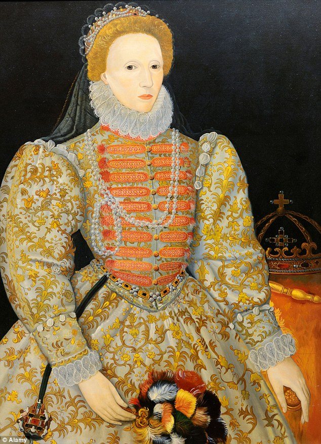 This painting by an unknown artist is known as the 'Darnley portrait' after a previous owner, and is from around 1575