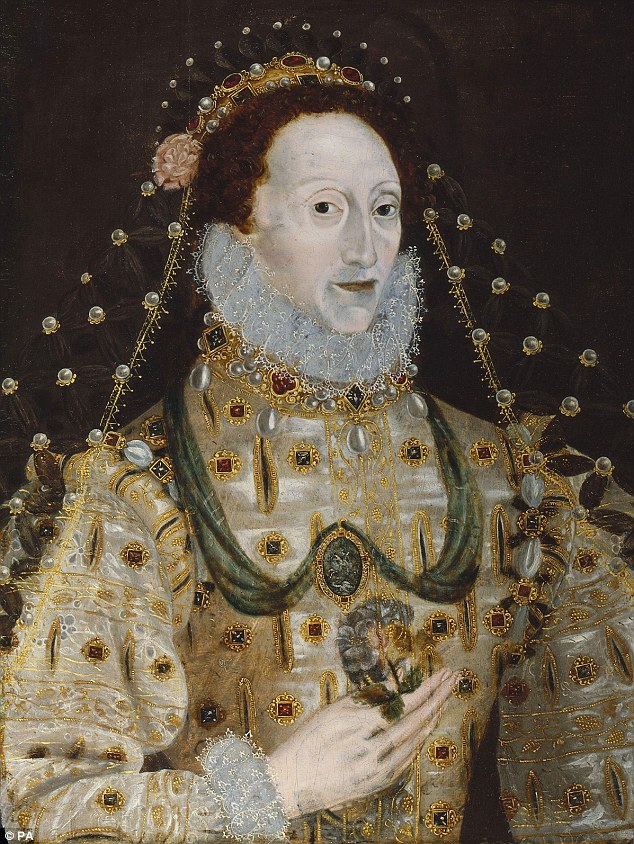 This portrait of Queen Elizabeth I is by an unknown artist and is from the period 1580-1590