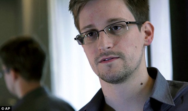 Keeping a secret: Snowden says he never told his girlfriend about his life-altering plans, saying he left weeks ago saying only that he had to travel for business