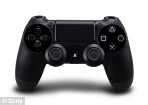 Sony's new DualShock controller for PS4 includes a 'share' button as well as a two-point touchpad and a six-axis motion sensing system hoping to compete with Microsoft's Kinect