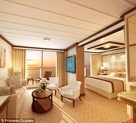 Luxurious: Each suite comes complete with 100 per cent Egyptian cotton bed linen, a 37