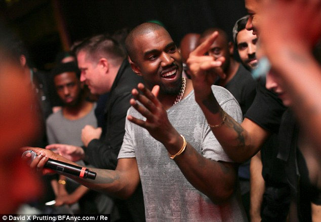 Usually grumpy Kanye smiled and laughed with friends at his Yeezus Listening Party on June 10