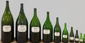 Different sizes of bottle