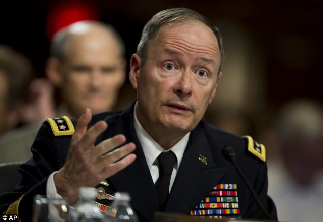 Insistent: Earlier this week, Keith Alexander, director of the NSA, defended the programs as 'critical' to national security. Sources said companies also believe they are helping the nation