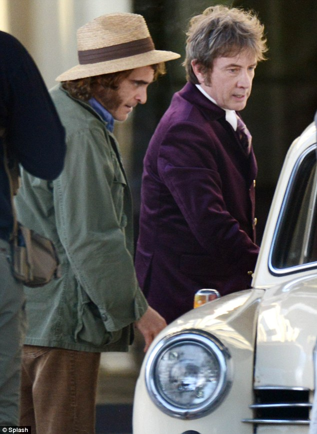 Joaquin Phoenix And Martin Short Snicker In Between Takes